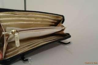 Michael Kors Jet Set Black Leather Zip Around Continental Wallet