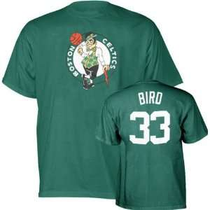 Green Majestic Throwback Player Name and Number Boston Celtics T Shirt