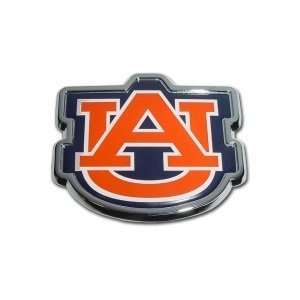 Auburn University Tigers Orange Blue & Chrome Plated Premium Metal Car