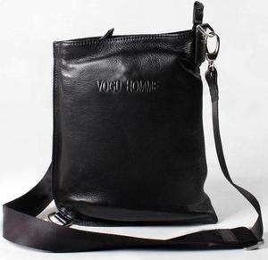 New Black Man Real Leather Shoulder Messenger Bag AR56c