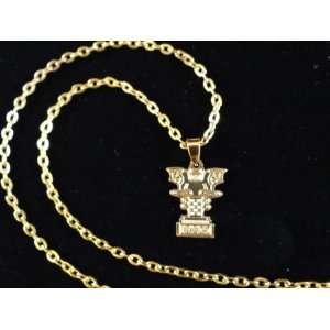 Capital Of Column Necklace Persian Empire Symbol Iranian Art Farvahar