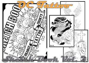 Tattoo Sketch Book Japanese Dragon Snake Flash Design