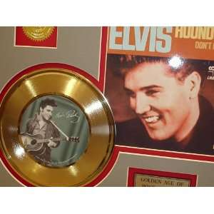 ELVIS PRESLEY HOUND DOG GOLD RECORD LIMITED EDITION