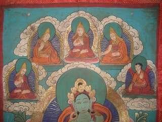MYSTICAL TIBETAN BLESSED THANGKA PAINTING ~ Green TARA