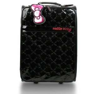 Hello Kitty Black Embossed Patent Carry on Luggage Toys