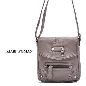 Gray Cute Flap Shoulder Cross Body Messenger Bag Purse