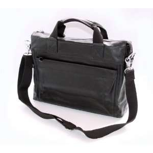 Italian CALF Leather Men Messenger Briefcase Laptop Case