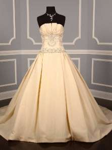 Kenneth Pool for Amsale K273 Vermeer Ivory Silk Taff Bridal Gown NEW