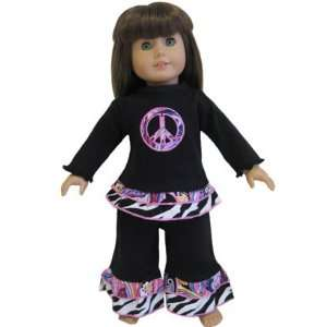 New Groovy Peace Outfit Fit American Girl Doll Clothing