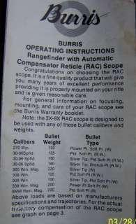 Burris Fullfield 3 9x40mm Rifle Scope ~USA~ RAC