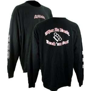 Syndicate Knockem Out Black Long Sleeve T Shirt (SizeM