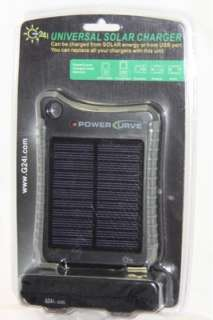 G24 INNOVATIONS BLACK SOLAR CHARGER POWER CURVE RUGGED/WATERPROOF CASE