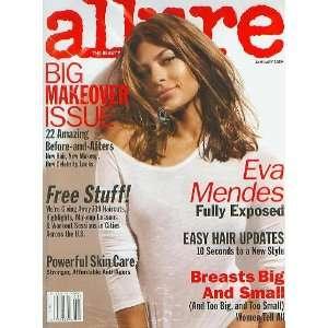 Allure January 2009 Eva Mendes Fully Exposed Books