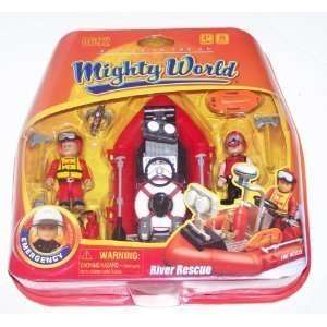 Mighty World River Rescue Emergency Playset 20 Pieces Toys & Games