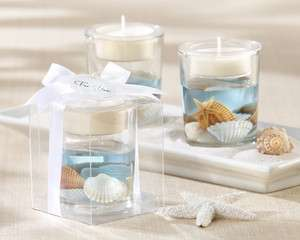 Gel Tealight Candle Holder Beach Themed Bridal Shower Wedding Favors