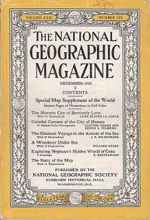 December 1932 National Geographic Magazine Philadelphia