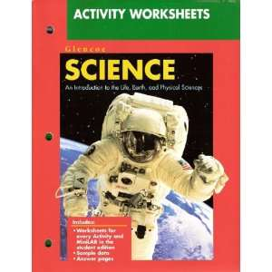 Activity Worksheets (Glencoe Science An Introduction to