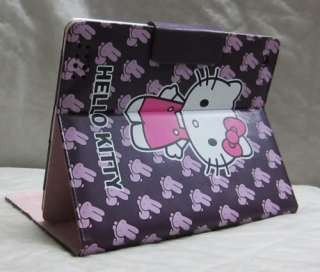 Hello Kitty leather case cover sleeve stand for apple iPad 2 purple