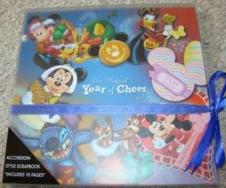 NEW Disney World Mickey Mouse Accordion Style SCRAPBOOK