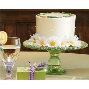 Recylced Glass Pedestal Cake Plate Kitchen & Dining