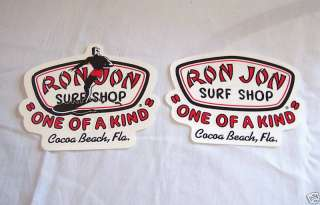 RON JON SURF SHOP BUMPER STICKER DECAL ~ COCOA BEACH FLORIDA SURFING