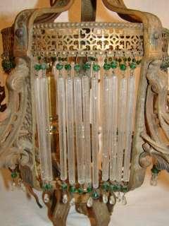CHAMPION Antique ART Nouveau DECO Flapper Dress CRYSTAL Wrought Iron