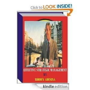 EFFECTIVE STRATEGIC MANAGEMENT BIODUN ADESINA  Kindle