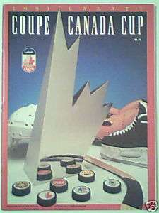 COUPE CANADA 1991 CANADA CUP OFFICIAL MAGAZINE