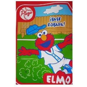 Plaza Sesamo Baseball Elmo Spanish Word Throw ~ Sesame Street Elmo