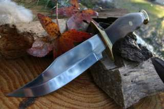 MOUNTAIN MAN BOWIE KNIFE LESS 420 STAINLESS STEEL BLADE W/HARDWOOD