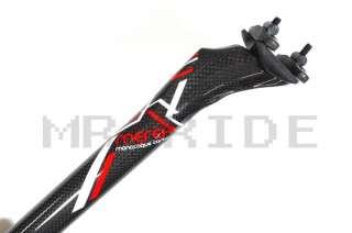 180G Merek Carbon Road MTB Bike Seatpost 31.6 x 350 mm