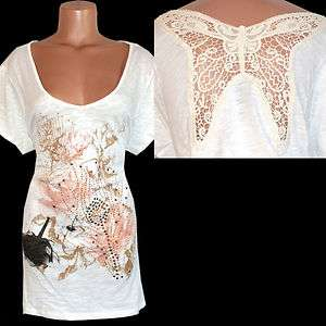 Women Plus Size RHINESTONE Rose Embellished Dress Shirt Top Tee T