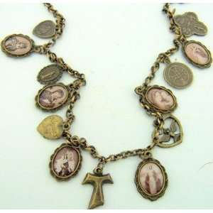 Cross Catholic Necklace Medal St. Saint Benedict Miraculous LOT