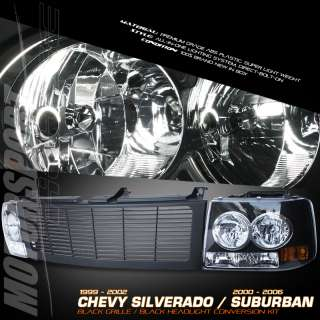 00 06 CHEVY TAHOE/SUBURBAN CONVERSION KIT 1PC BLACK HEADLIGHT FRONT