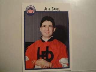 HORSE RACING, JOCKEY CARD. JEFF CARLE 1997