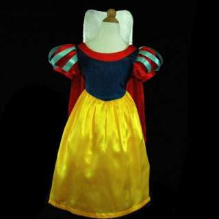 White Dress  Girls on 5188ufr11 Dress Up Snow White Princess Girls Dress 7 8y