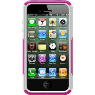COMMUTER CASE for APPLE iPHONE 4S   PINK / WHITE   NEW   ALL CARRIERS