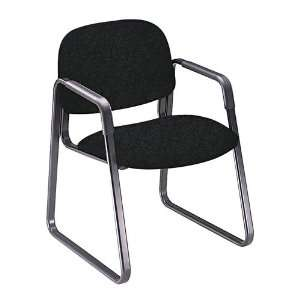HON   Solutions Seating Sled Base Guest Chair, Olefin, Black