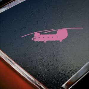 CH 47 Chinook US Army Helicopter Pink Decal Car Pink