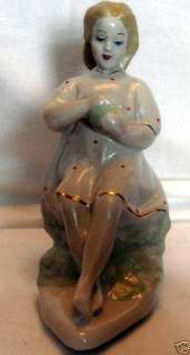 1950 Russian Soviet Vintage Porcelain Sculpture Figure