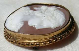 Antique Victorian 14K Gold CERES Cameo Pin/ Brooch