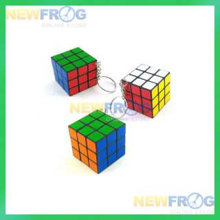 Mini Magic Rubix Rubik Cube Puzzle Game Key Chain Toy