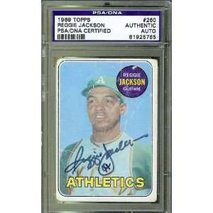 Signed Reggie Jackson Picture   1969 Topps Card PSA DNA