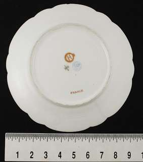 FANCY SEVRES PORCELAIN GILT LOUIS PHILIPPE CREST PLATE
