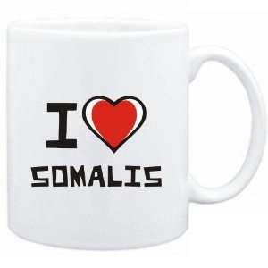 Mug White I love Somalis  Cats