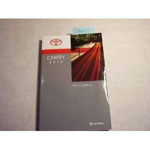 2012 toyota camry owners manual. Black Bedroom Furniture Sets. Home Design Ideas