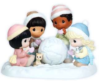 New PRECIOUS MOMENTS Figurine SNOWBALL GLOBE What The World Needs