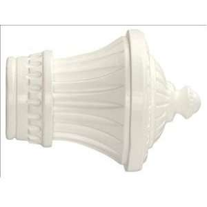 2 Charleston Finial in White finish for a 2 dowel rod