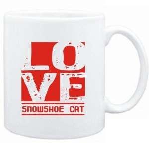 Mug White  LOVE Snowshoe  Cats