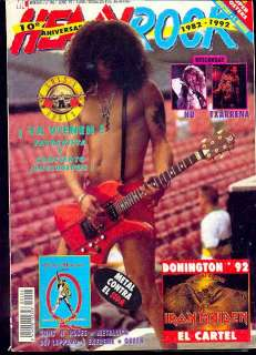 GUNS`N ROSES Slash RARE Magazine Spain 1992